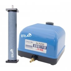 Aeration Set: Airpump Hailea V-60 and cylinder diffuser Hi-Oxygen 300x50mm
