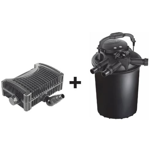 Tvenkinio filtracijos komplektas: SICCE Green Reset 100 slėginis tvenkinio filtras su UV-C lempa + siurblys SICCE EKO Power 12