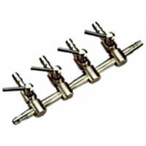 3 krypčių kolektorius 4mm žarnai (1x4mm -> 3x4mm)