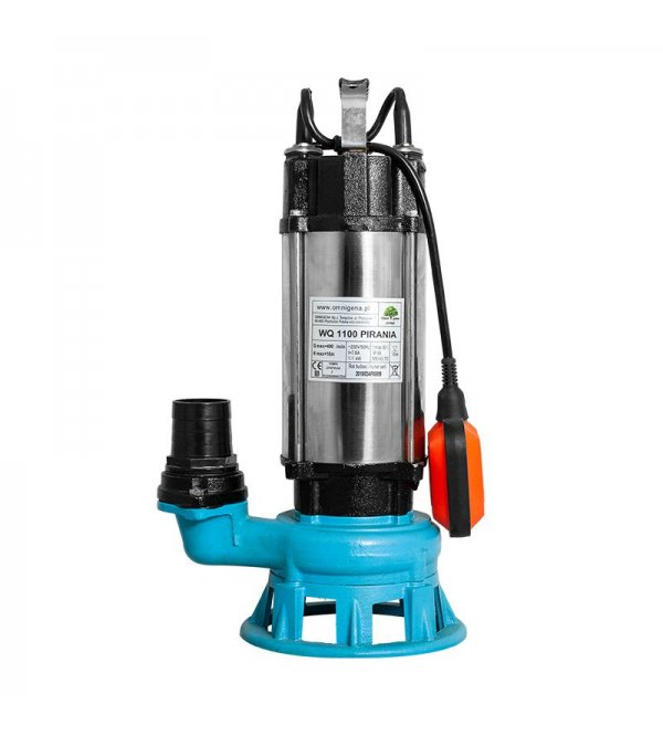 Submersible pump with cutting system WQ 1100 Pirania (230V)