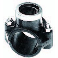 """Clamp saddle 20 mm x ½"""" with internal thread, with SS reinforcements ring"""